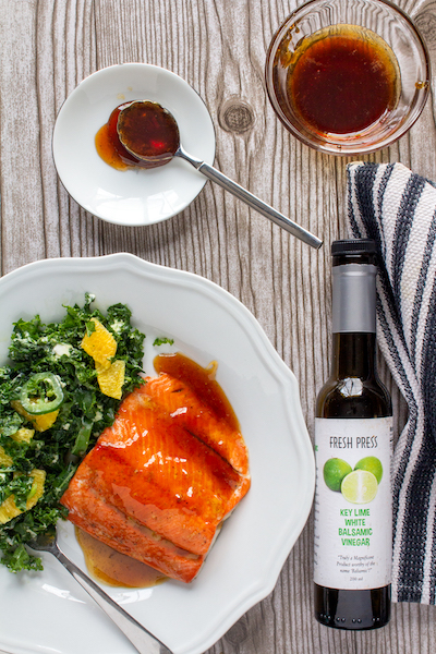 Key-Lime Balsamic & Honey Glazed Salmon